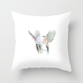 Wedding Birds #3 #tropical Throw Pillow