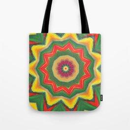 mandala yellow/green Tote Bag