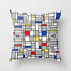 Map Lines Mond Throw Pillow