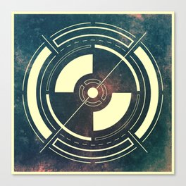 Space Circle Canvas Print