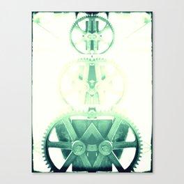 Oil the wheels Canvas Print
