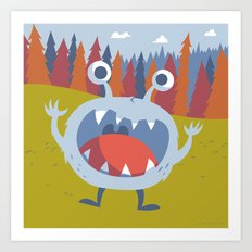 Suprise Monster Art Print