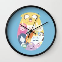 adventure Wall Clocks featuring Adventure by Eva Puyal