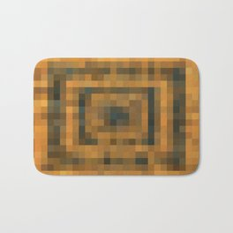 brown and black pixel abstract background Bath Mat