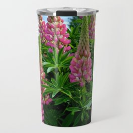 Rose Lupins in the Garden Travel Mug