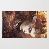 autumn Area & Throw Rugs featuring Autumn by AlexToothArt