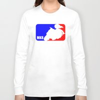 mario kart Long Sleeve T-shirts featuring Mario Kart 8 - Link on the Mastercycle Sport Logo by brit eddy
