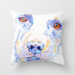 Lotte, the rescue dog Throw Pillow
