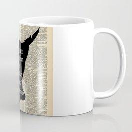 Peter Pan Over Vintage Dictionary Page - To Live Coffee Mug