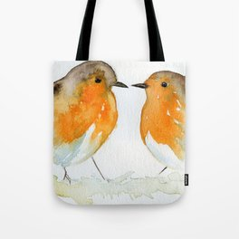 Robins in Love Tote Bag