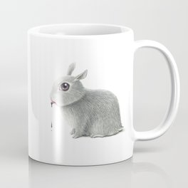 the rabbit drooling black Coffee Mug