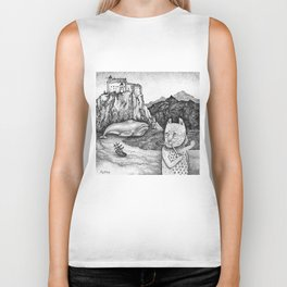 The Whale, The Castle & The Smoking Cat Biker Tank
