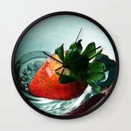 Fruity Strawberry Wall Clock