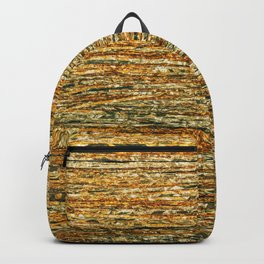 Abstract Geometric Gold Silver Glitter Modern Pattern Backpack