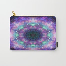 Trippy Purple Deep Space Mandala Carry-All Pouch