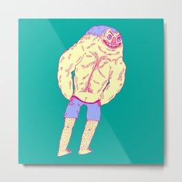 Muscle Butt Metal Print