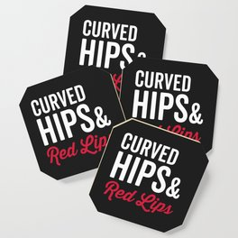 Curved Hips & Red Hips Quote Coaster