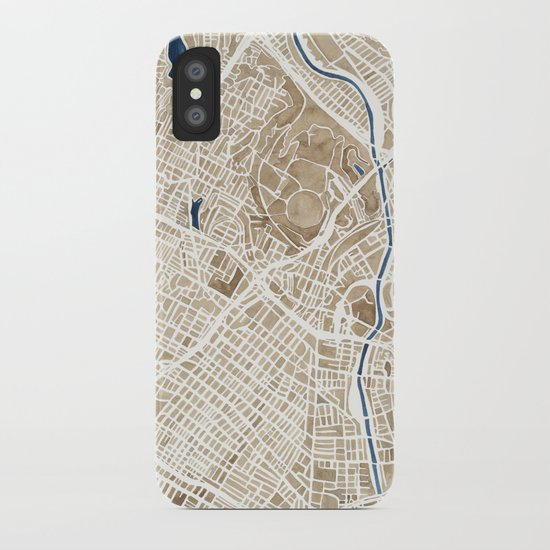 Los Angeles California City Map iPhone Case