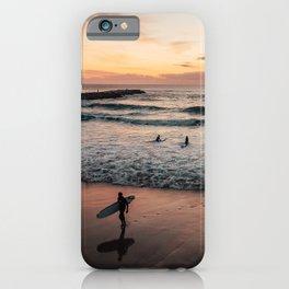 Surfers at the beach of Costa da Caparica | Portugal iPhone Case