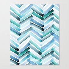 Cycladic Chevron Canvas Print