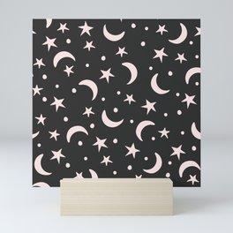 Moon and Stars Mini Art Print