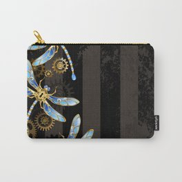 Steampunk Design with Mechanical Dragonflies Carry-All Pouch