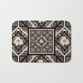 Cherokee Rose Pattern 1 brown and pink Bath Mat