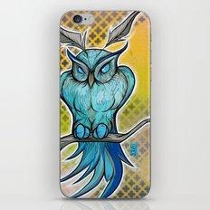 Blue Owl iPhone & iPod Skin
