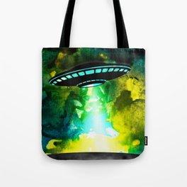 Watercolor UFO Tote Bag