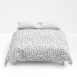 Black and White Spots Comforters