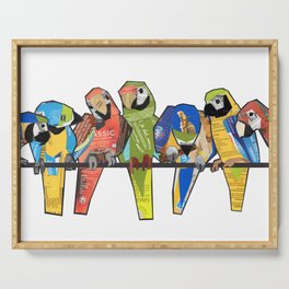 Parrot Family Serving Tray