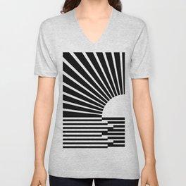 White rays Unisex V-Neck