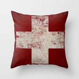Ski Patrol Blanket Native Vermont Throw Pillow
