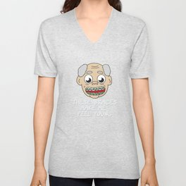 Braces Funny metal mouth sexy tooth dentist brace  Unisex V-Neck