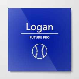 Baseball - Future Pro - Logan Metal Print