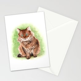Somali cat portrait Stationery Cards