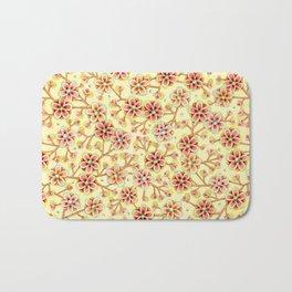 Candy Apple Blossom Yellow Bath Mat