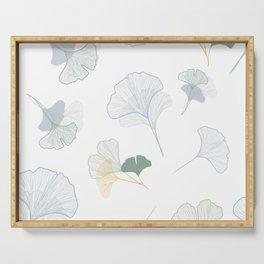 ginkgo biloba leaves pattern Serving Tray