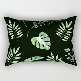 Aromantic Pride Assorted Tropical Leaves Pattern Rectangular Pillow