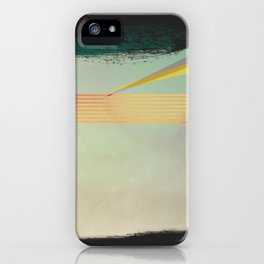 go away, black clouds iPhone Case
