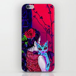 Kitten with wings iPhone Skin