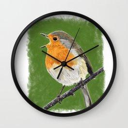 Robin 02 Wall Clock