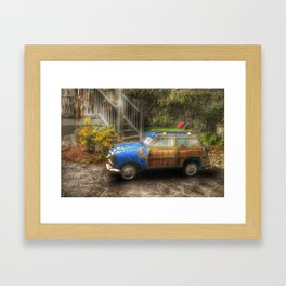 Off to Fulfill a Surfing Dream Framed Art Print