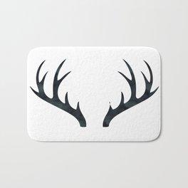 Antlers Black and White Bath Mat
