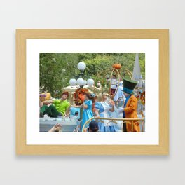 Peter Pan, Wendy, Alice and the Mad Hatter at Walt Disney World's Magic Kingdom Framed Art Print