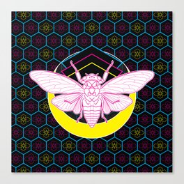 Geometric Cicada Canvas Print