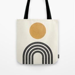 Mid century modern gold Tote Bag