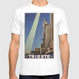 Trieste art deco Italian travel ad T-shirt