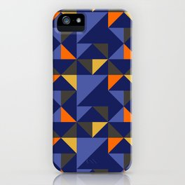 Retro Triangle Block Pattern 1 iPhone Case
