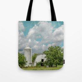 White Barn and Blue Sky Tote Bag